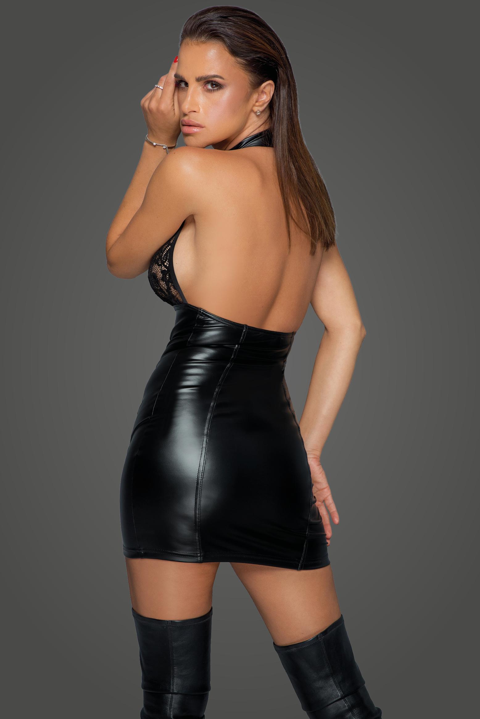 F224 Kleid mit durchgehender Knopfleiste