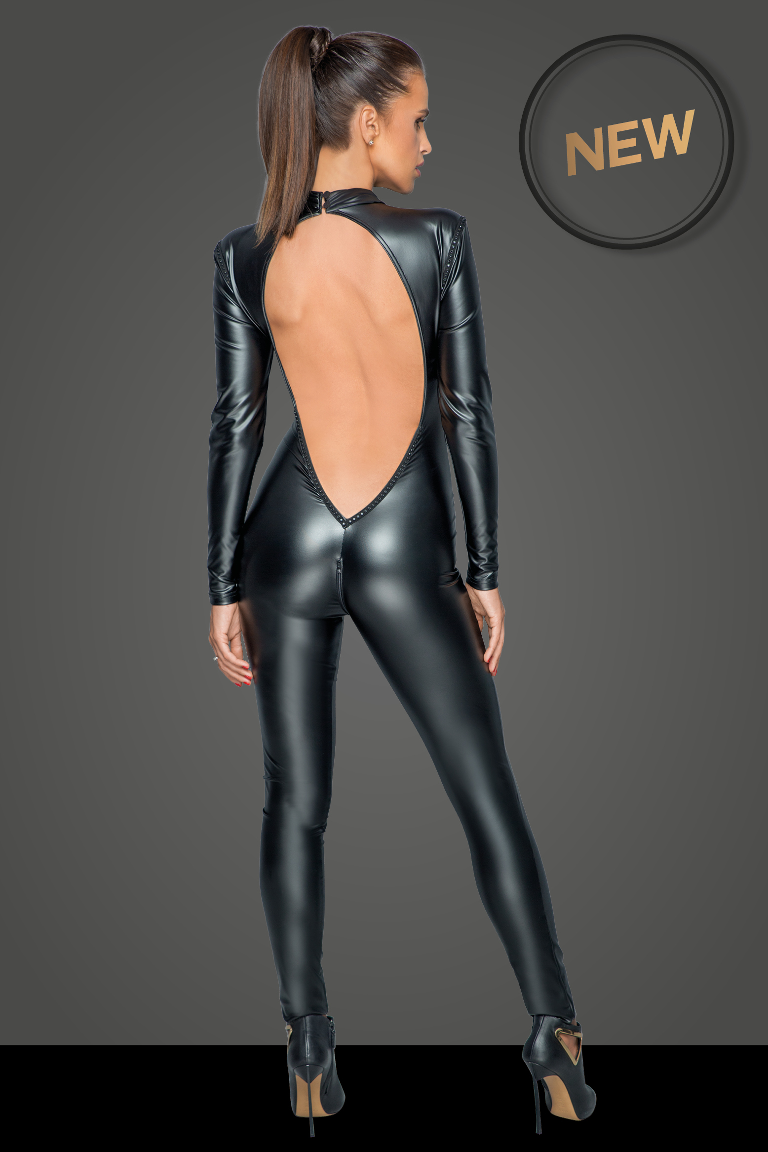 F230 Overall with deep back neckline