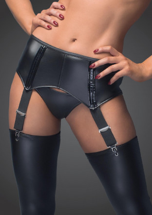 F034 Sexy garter belt - with an erotic back lacing