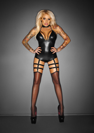 "F109 Body with garter belt ""OUTRAGEOUS"""