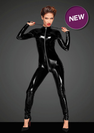 F188 PVC overall with long metal 3-way zipper