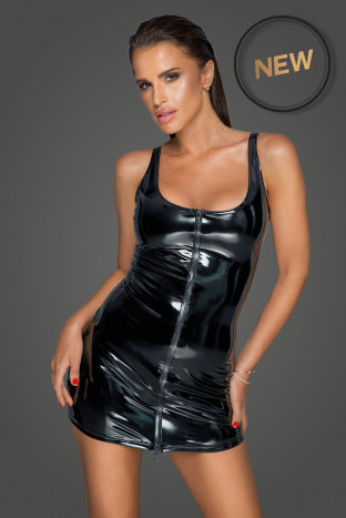 F232 PVC dress with 2-way zipper