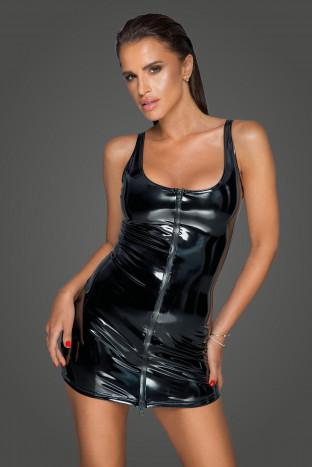 F232 PVC Kleid mit 2-Wege Zipper