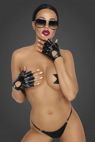 F264 Powerwetlook fingerless gloves
