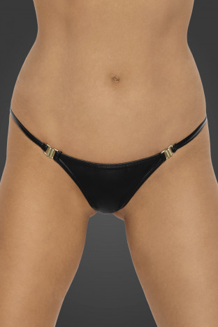 P008 Powerwetlook panty with gold clasp